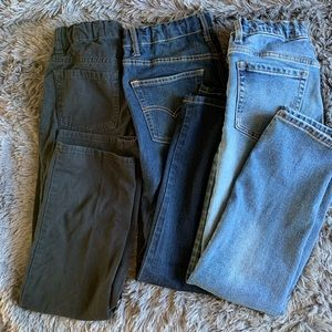 2 old navy and 1 levis boys pants bundle size 12